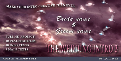 The Wedding Intro 3 - After Effects Project