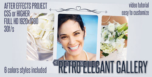 After Effects Project - Elegant Retro Gallery