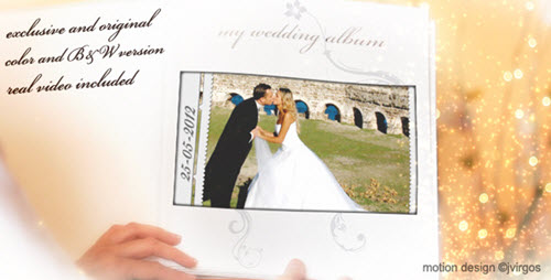 Wedding Album Love Memories - Project for After Effects