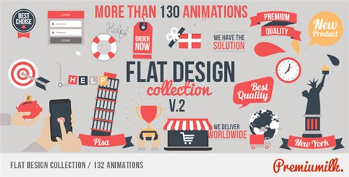 Flat Design - After Effects Project