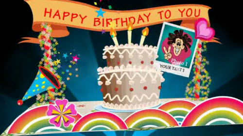 Birthday Card Pop up V1 - Projects for After Effects