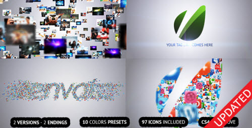 Flying Through Images Logo Reveal - After Effects Project (Videohive)
