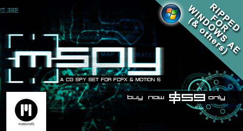 motionVFX - mSpy (Ripped For Windows)