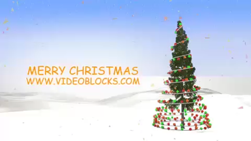 Rockin Around the Christmas Tree After Effects Template