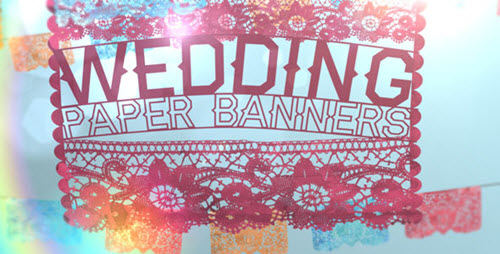 Wedding Paper Banners - After Effect Project