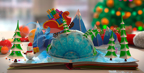 Christmas Pop-Up Book - After Effect Project