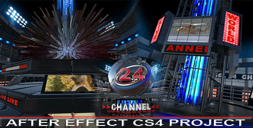 Broadcast Design TV Opener - Project for After Effects