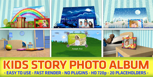 Kids Story Photo Album - After Effects Project