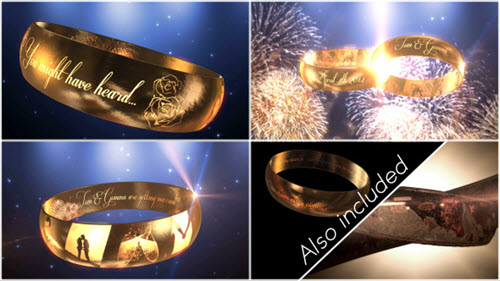 Wedding Ring Invitation - E3D - After Effect Project