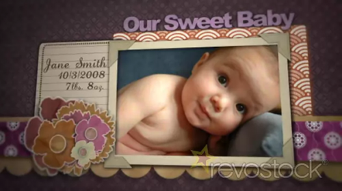 RevoStock Baby Boy Scrapbook - After Effects Project
