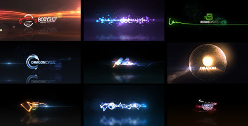 Quick Logo Sting Pack 04: Glowing Particles - After Effect Project
