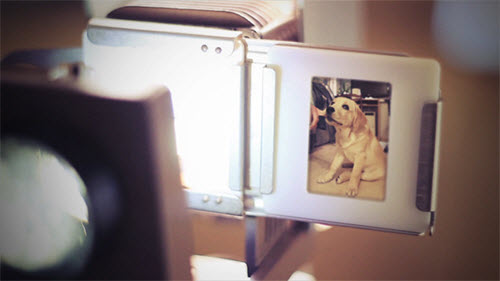 Vintage Slide Projector Photo Gallery - After Effect Project