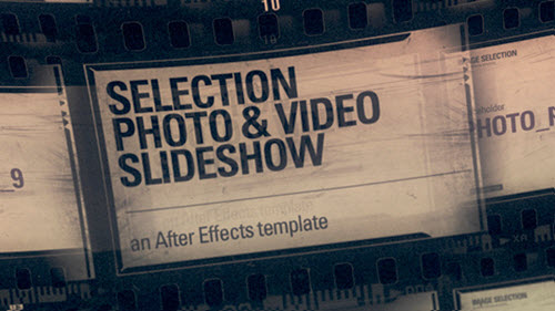 Selection Photo & Video (Slideshow) - After Effect Project