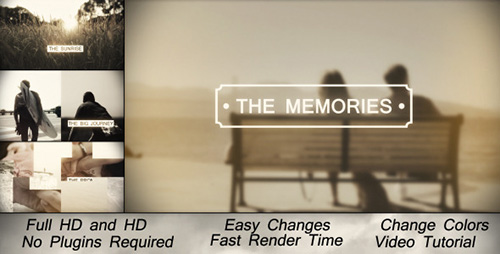 Memories Slideshow - Project for After Effects