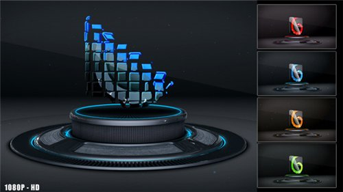 3D Logo on Stage - After Effects Project (Videohive)