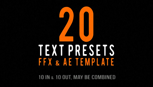Text Animated Presets - Project for After Effects (REVOSTOCK)