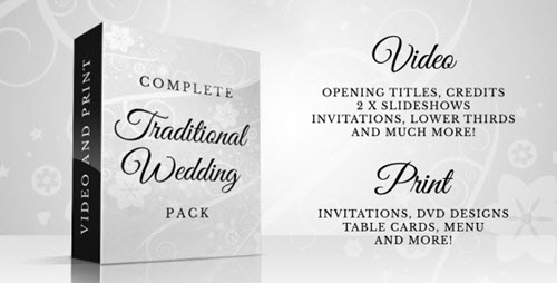 Complete Traditional Wedding Pack - After Effect Project