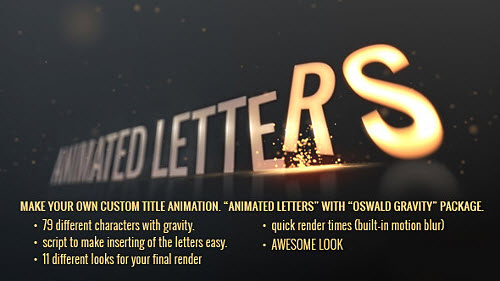 Animated Letters - Oswald Gravity Package - Project for After Effects (Videohive)