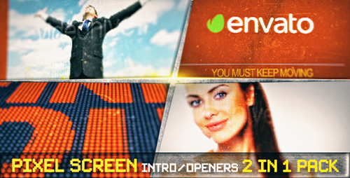 Pixel Screen Grunge Opener - Project for After Effects (Videohive)