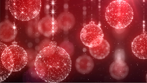 iStockVideo Chrsitmas Ornaments Red Background