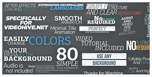 80 Simple Title Animations - Project for After Effects (Videohive)