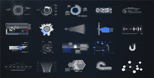 HUD & Infographic Elements - After Effects Project (Videohive)