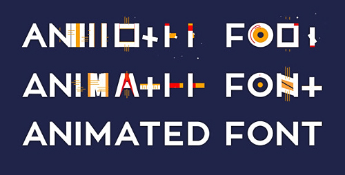 Animated Font - Project for After Effects (Videohive)