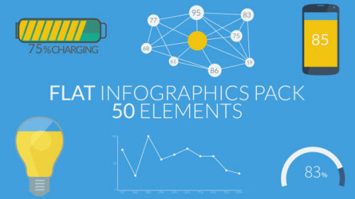 Flat Infographics Pack (50 Elements) - Project for After Effects (Videohive)
