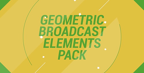 Geometric Broadcast Elements Pack - Project for After Effects (Videohive)