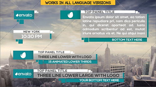 21 Clean Lower Thirds - Project for After Effects (Videohive)