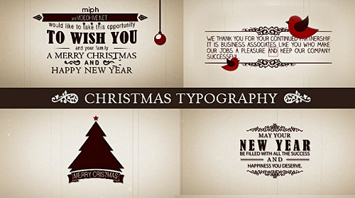 Christmas Typography - Project for After Effects (Videohive)