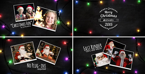 Christmas Light Slideshow - Project for After Effects (Videohive)