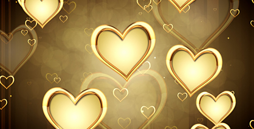 Golden Hearts - Motion Graphics (Videohive)