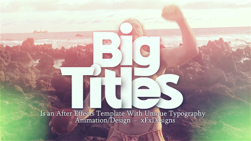 Big Titles Slideshow Typography - Project for After Effects (Videohive)