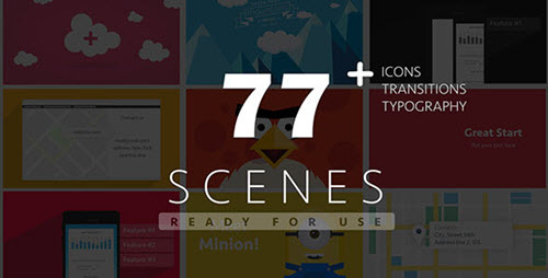 77 Ready For Use Scenes - Project for After Effects (Videohive)