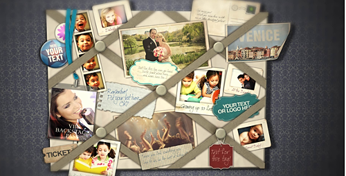 French Memo Board - Project for After Effects (Videohive)