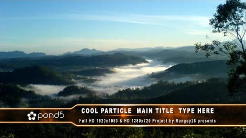 Cool Particle Lower Third - Pond5 - After Effects Project