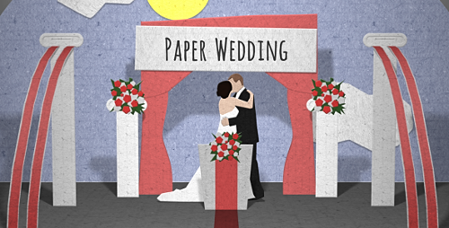 Paper Wedding Opening - Project for After Effects (Videohive)