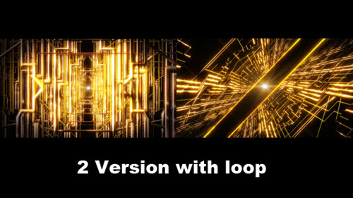 Golden Line Space - Videohive