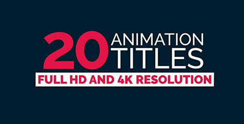 20 Title Animation - Project for After Effects (Videohive)