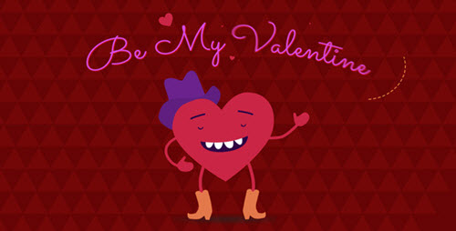Be My Valentine Cartoon Greeting - Project for After Effects (Videohive)