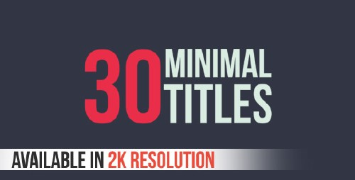 30 Minimal Titles - Project for After Effects (Videohive)