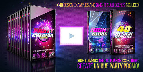 Party Creator Toolkit - Project for After Effects (Videohive)
