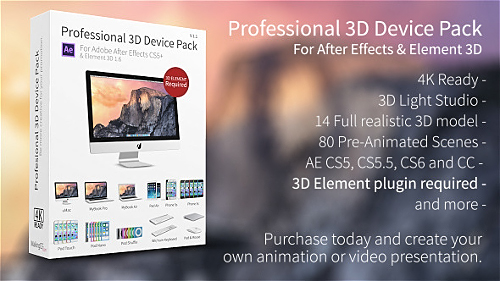 Professional 3D Device Pack for Element 3D - Project for After Effects (Videohive)