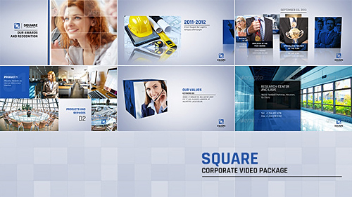 Square Corporate Video Package - Project for After Effects (Videohive)