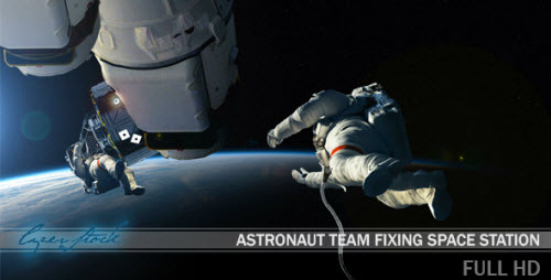 VideoHive - Astronaut Team Fixing Space Station 10291332