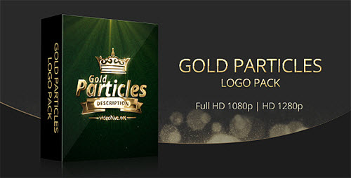 Gold Particles Logo Pack - Project for After Effects (Videohive)