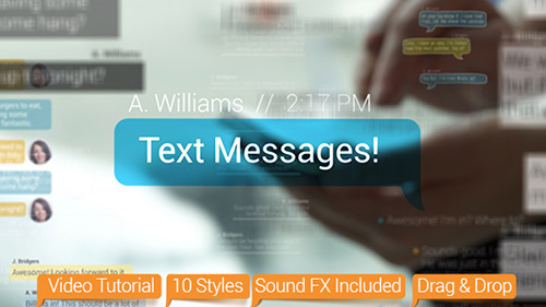 Text Messages - Project for After Effects (Videohive)