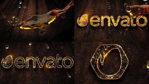 Liquid Gold Logo - Project for After Effects (Videohive)