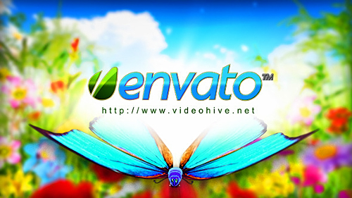 Logo Featuring Butterflies in Natural Environment - Project for After Effects (Videohive)